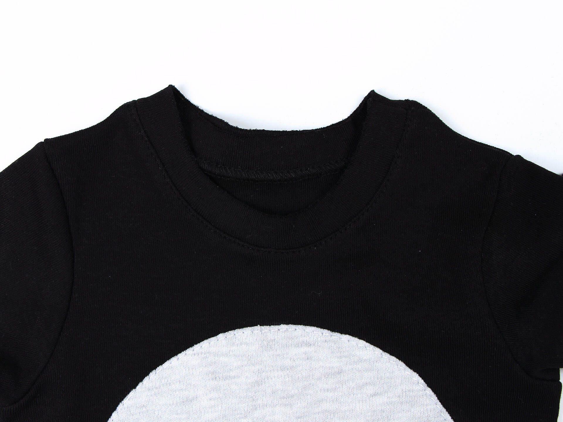 Лонгслив L-black round