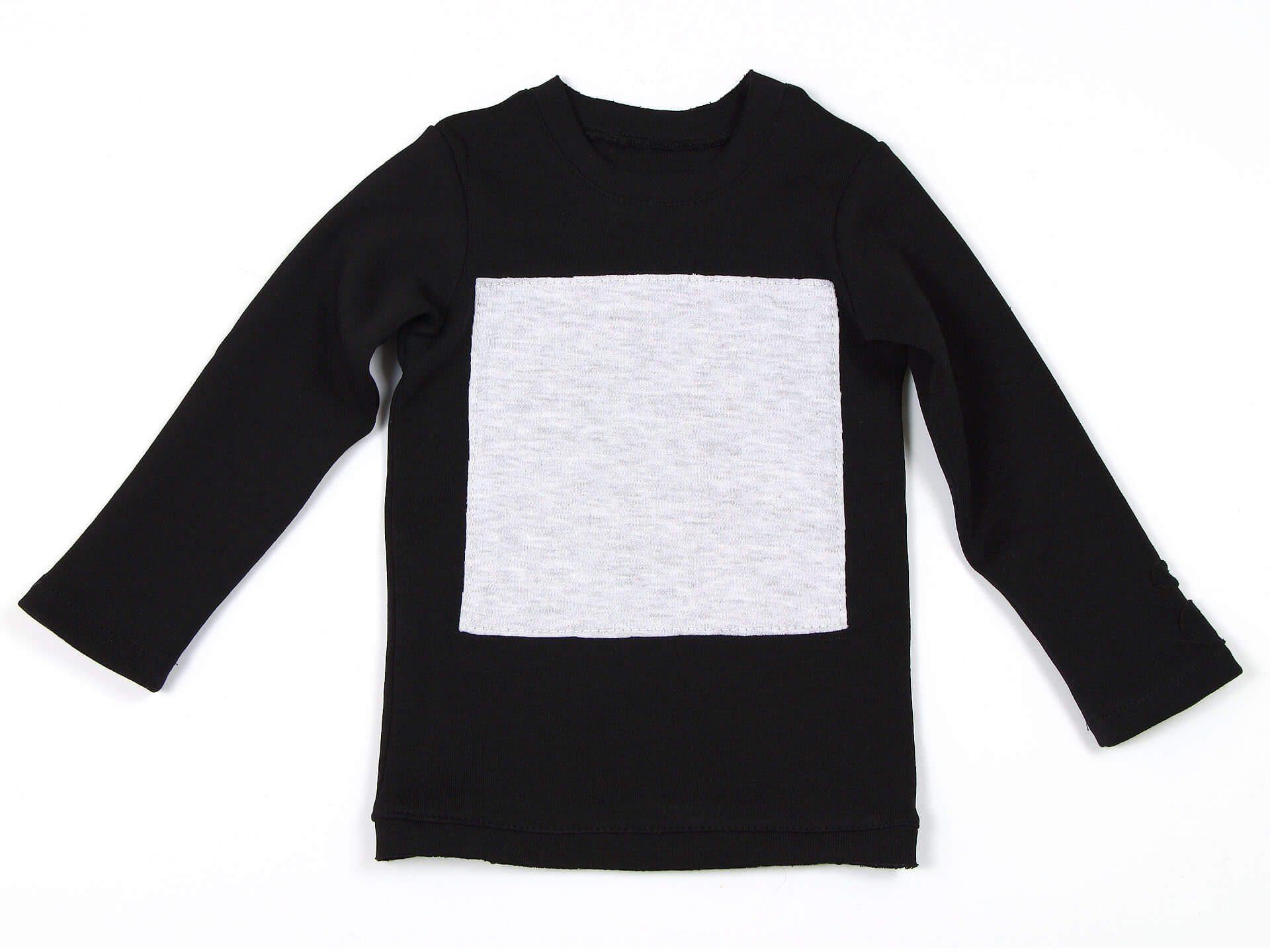 Лонгслив L-black square